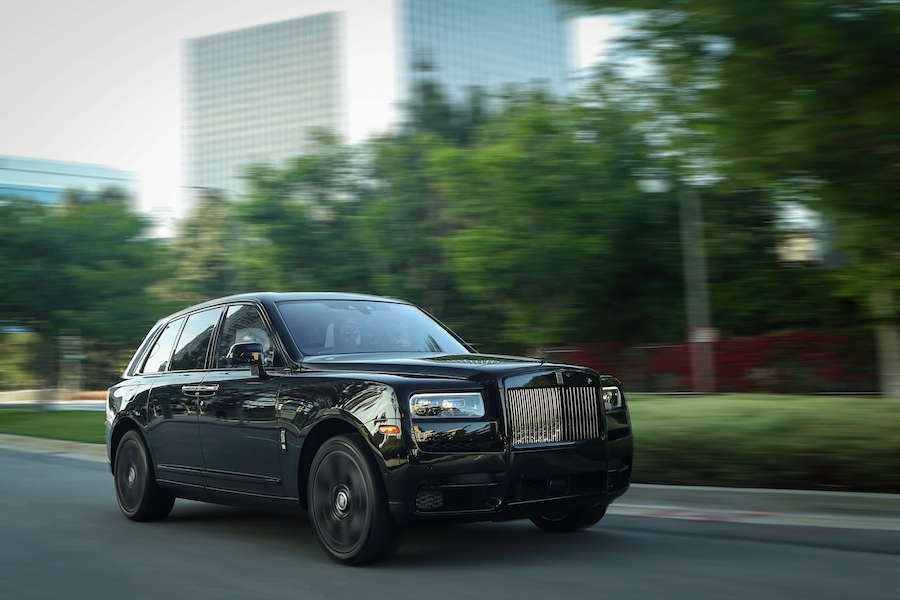 Blacked out Rolls Royce Cullinan