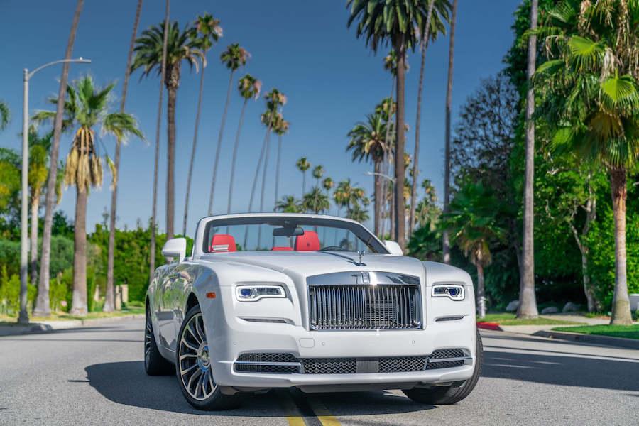 Rolls-Royce Dawn White Rental