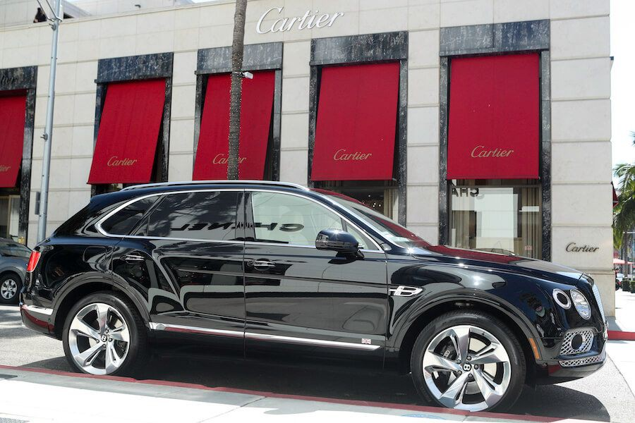 Bentley Bentayga on rodeo drive