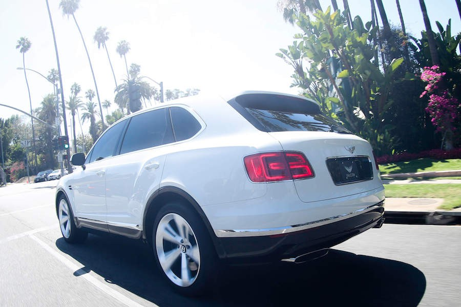 White Bentley Bentayga for rent
