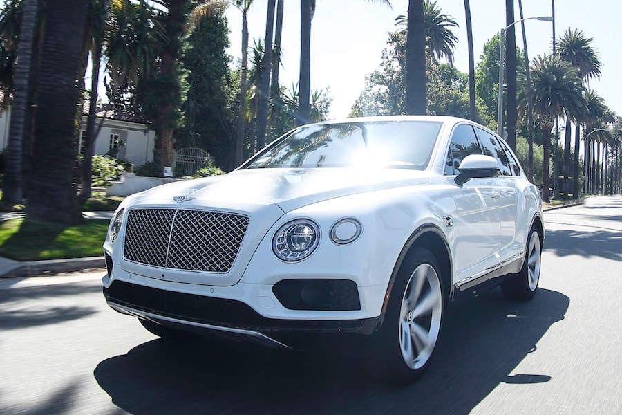 White Bentley Bentayga rental