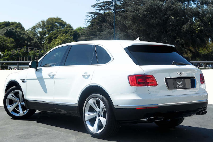 White Bentley Bentayga rental LA