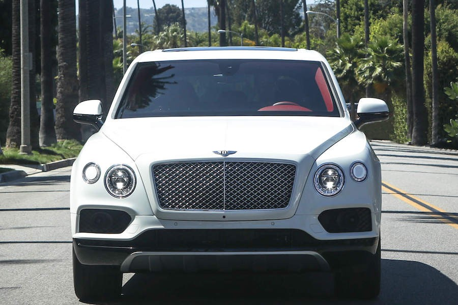 White Bentley Bentayga rental Beverly Hills