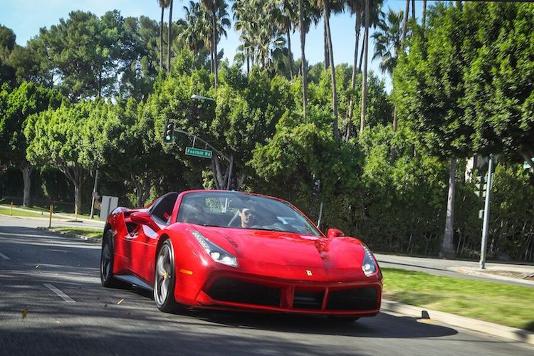 Red Ferrari 488 Spider Rental
