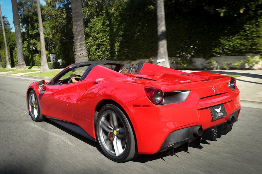 Red Ferrari 488 Spider Rental Los Angeles Rent A Ferrari