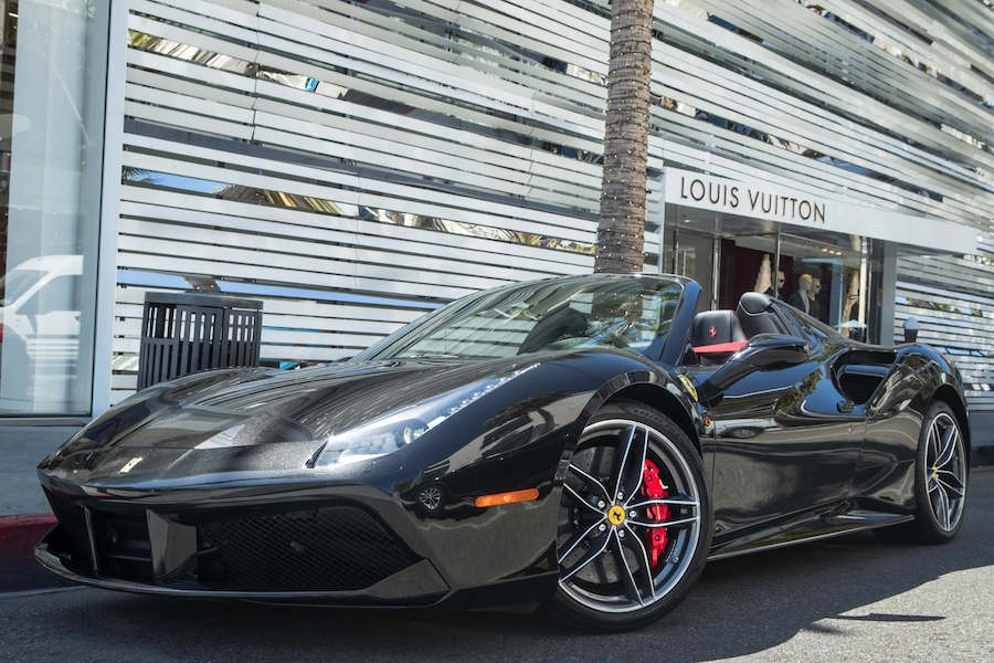 Ferrari 488 Spider in Beverly Hills for Rent