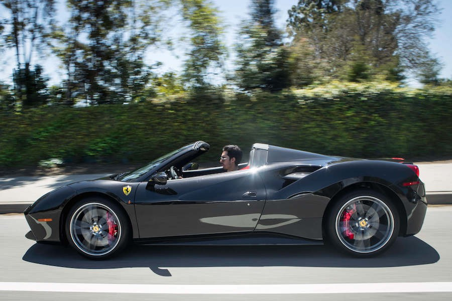 Black on Black Ferrari 488 Spider