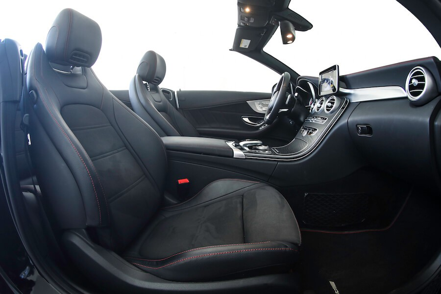 interior of Mercedes AMG C43 Cabriolet rental
