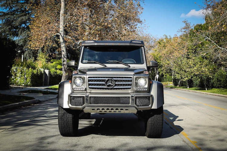 Grey Mercedes G550 4x4 Squared