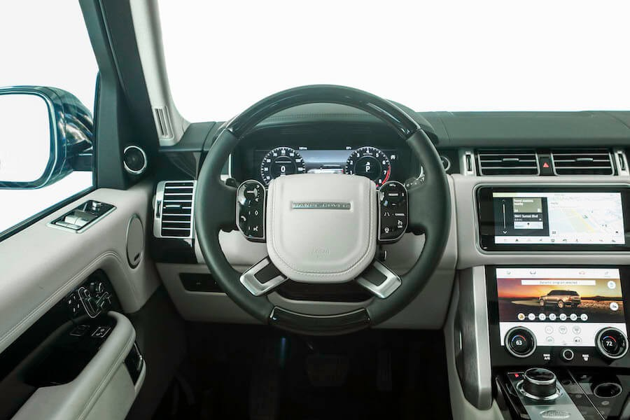 interior of 2018 Range Rover Supercharged