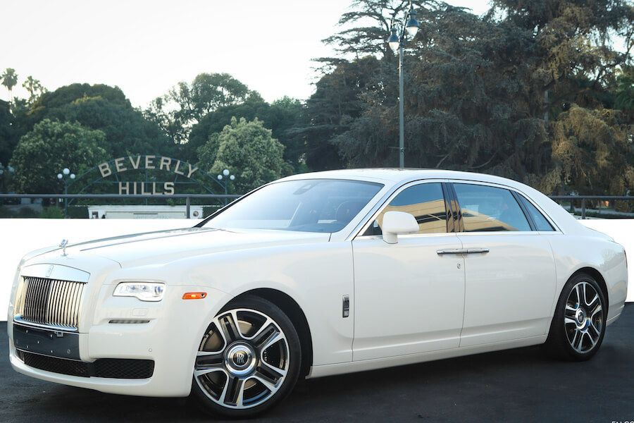 White Rolls Royce Ghost rental