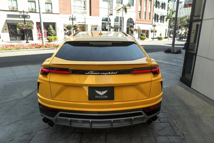 Yellow Lamborghini Urus Rental