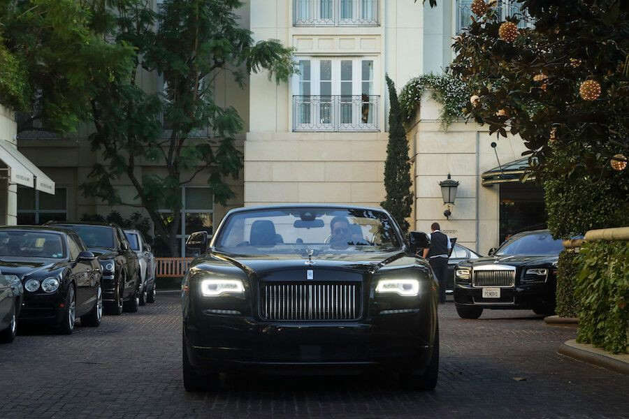Rolls Royce Dawn blacked out