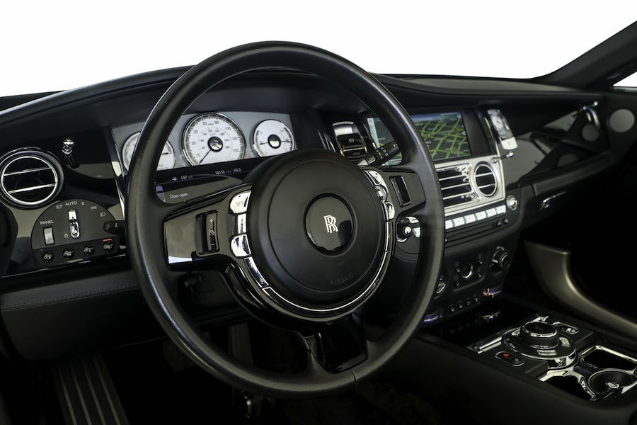 Black Interior Rolls Royce Dawn