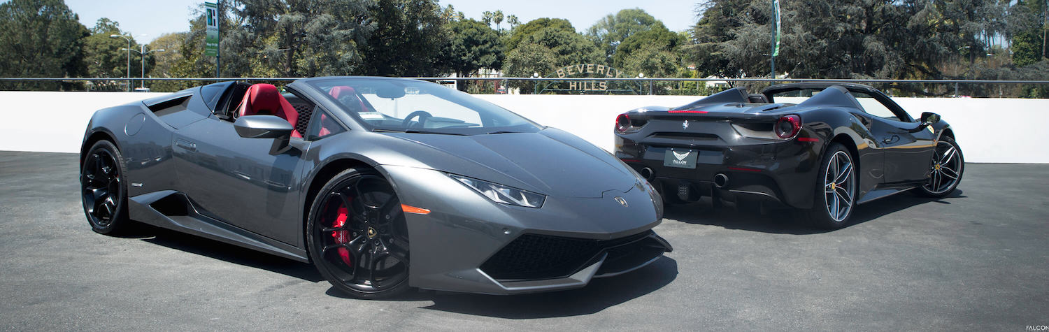 The Lamborghini Huracan Spyder VS. The Ferrari 488 Spider